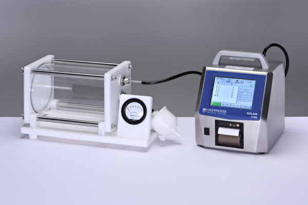 EXPA mit angeschlossenem Partikelzähler und Nullfilter